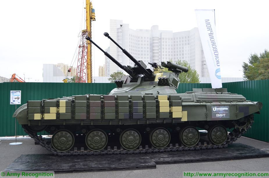 Strazh new Ukrainian BMPT fire support vehicle based on T 64 MBT tank Arms and Security 2017 Ukraine 925 006
