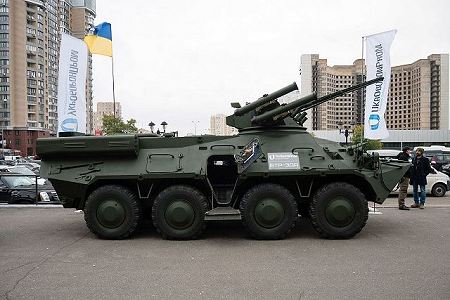 BTR 3DA 8x8 APC wheeled armoured vehicle personnel carrier Ukraine Ukrainian army defense industry right side view 001