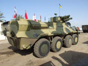 BTR-3E1 wheeled armoured vehicle personnel carrier technical data sheet specifications description information intelligence pictures photos images identification Ukraine Ukrainian defense industry military technology army