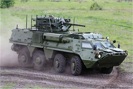 BTR 4E APC 8x8 wheeled armoured vehicle personnel carrier UKraine Ukrainian army defense industry right side view 001