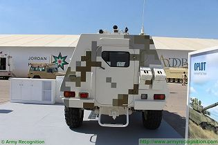 Dozor B 4x4 wheeled light armoured vehicle personnel carrier Ukraine Ukrainian army defense industry military equipment rear view 002