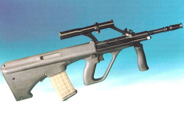Steyr Aug Assault Rifle Technical Data Sheet Description