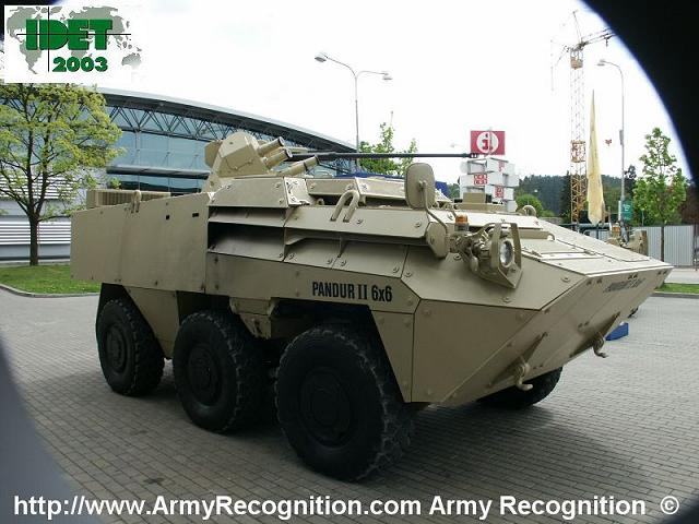 Pandur 1 II Steyr 6x6 wheeled armoured vehicle personnel carrier Austria Austrian Army 640