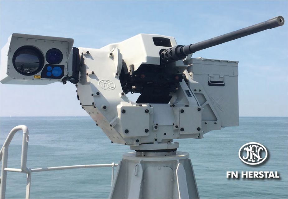 Sea deFNder Naval RWS Remote Weapon Station Remotely Operated FN Herstal Belgium defense industry 925 001
