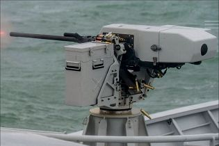 Sea deFNder Naval RWS Remote Weapon Station Remotely Operated FN Herstal Belgium defense industry left side view 001