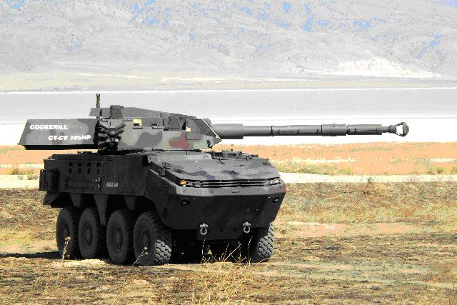 CT-CV weapon system 105 120 mm turret armoured armored cockerill gun vehicle design development production manufacturer Belgium Belgian industry CMI Defence
