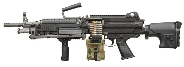 Belgium-based small arms manufacturer FN Herstal unveils the next generation FN MINIMI® Light Machine Gun in both 5.56mm and 7.62mm calibers during the MILIPOL 2013 exhibition in Paris (19 to 22 November 2013).