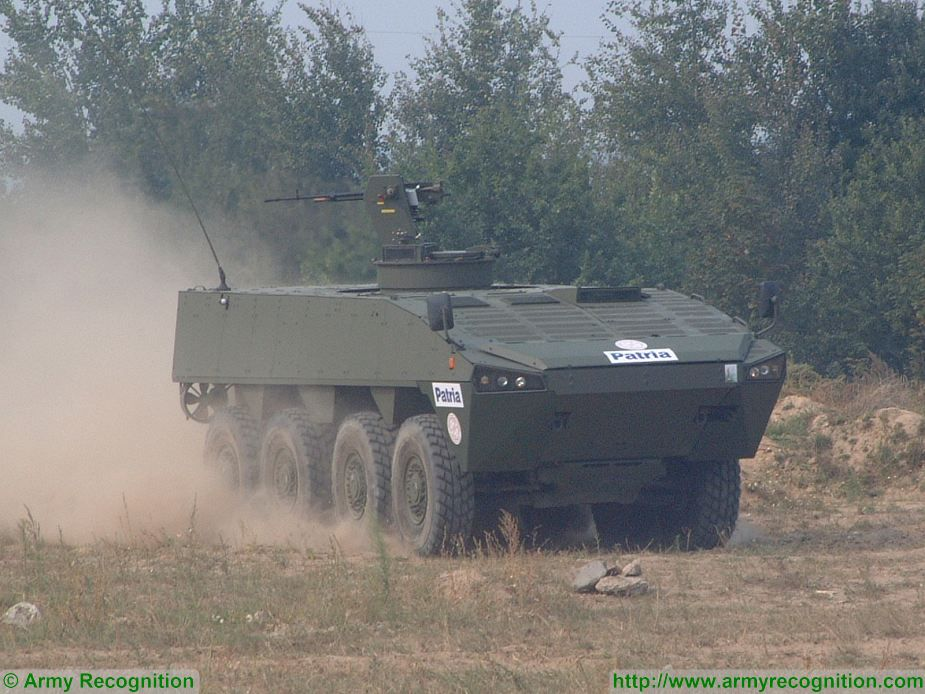Patria AMV 8x8 wheeled armoured vehicle Finland Finnish defense industry 925 001