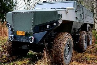 PMPV 6x6 MiSu Protolab MRAP Mine Resistant Ambush Protected vehicle Finland front view 001