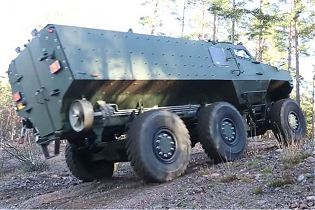 PMPV 6x6 MiSu Protolab MRAP Mine Resistant Ambush Protected vehicle Finland rear view 001