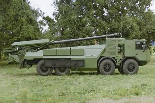 Caesar 155mm 8x8 wheeled self propelled howitzer Nexter artillery France French right side view 002