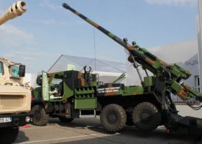 Caesar Mk2 wheeled self-propelled howitzer technical data sheet specifications description information intelligence identification France French Nexter