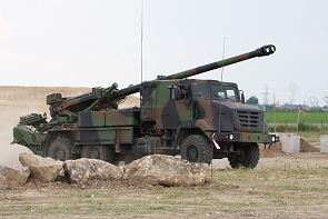 Caesar Sherpa 5 Nexter Systems wheeled self-propelled howitzer technical data sheet information description intelligence identification pictures photos images France French Army Renault trucks defense