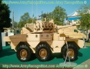 The ERC-90 Sagaie is a 10 tons wheeled armoured vehicle, fitted with a 90 mm gun and a coaxial 7,62 mm machine gun. To Eurosatory 2008, the French Defence Company Panhard show a new upgrade of the ERC-90 fitted with new armour Stanag 4569 level 3 to the front and Level 2 to the others sides of the vehicle, but the weight of the vehicle is the same. The new version of ERC-90 is easily transported over long distances and well-protected. The ERC-90 can be fitted with various turret, as the TS90 from Nexter Systems, the Hispano-Suiza HS90, the CSE90 from CMI Defense and all the 90 mm guns or the the 40 mm gun from CTA International. The ERC-90 Sagaie has been the spearhead of the French Army for two decades.