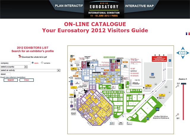Eurosatory 2012 plan your visit online exhibitors catalogue