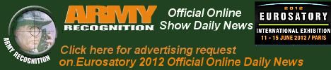 Your advertising on Army Recognition the only official online daily news EUROSATORY 2012