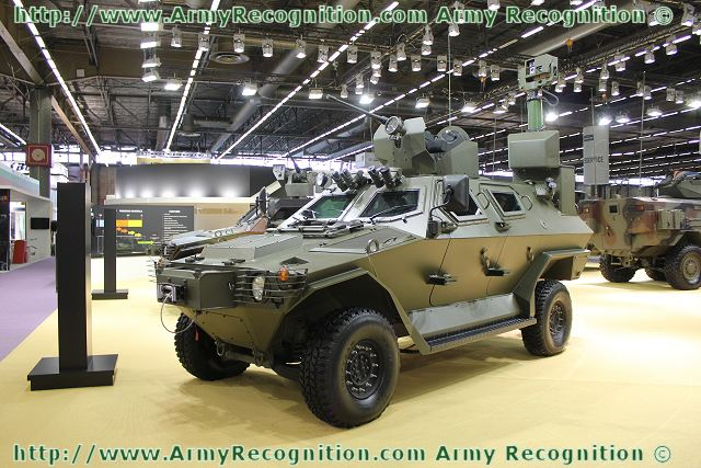 OTOKAR Cobra wheeled armoured reconnaissance vehicle at Eurosatory 2012