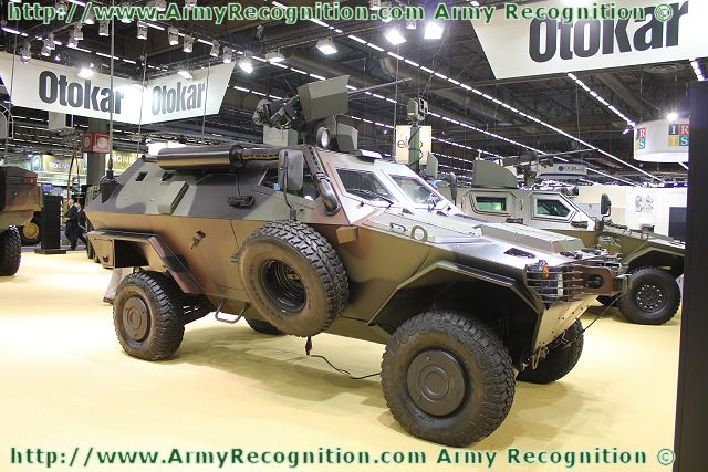 COBRA Otokar with Remote Controlled Weapon Station at Eurosatory 2012.
