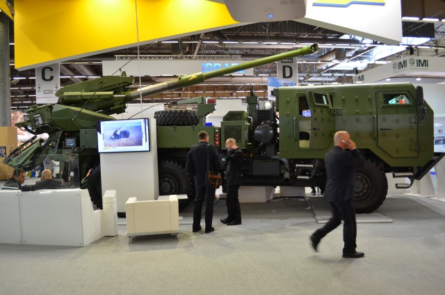Elbit Systems showcases for the first time at Eurosatory 2014, the International Defence an Security Exhibition, its new upgraded version of the ATMOS155mm/52 caliber Truck-Mounted Howitzer. Mounted onboard a TATRA vehicle chassis, the ATMOS will be located at Hall 6 booth D-601.