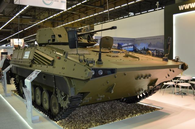 One of this year's Eurosatory attractions is the BMP-MEXCA, an upgrade of the legacy BMP-1 IFV, which brings the vehicle in NATO standards and capable of responding to the challenges of modern warfare.