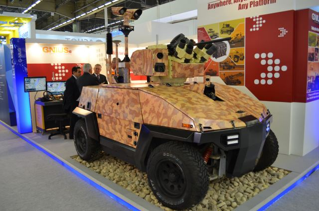 G-NIUS - a leader in the development and manufacturing of unmanned ground systems - unveils its Hybrid Unmanned Ground Vehicle with a high level of maneuverability, and its unique robotic suite that enables any vehicle to perform as Unmanned.