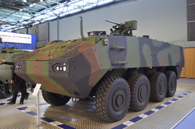 At Eurosatory 2014, General Dynamics European Land Systems presents for the first time the latest member of the successful PIRANHA vehicle family, the new PIRANHA 3. The vehicle was developed in response to customer requirements for increased levels of protection, off road mobility and inherent growth for the future.