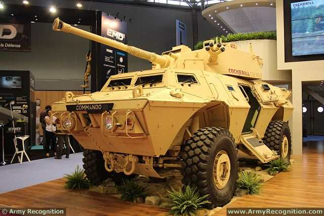 To response of Infantry-led mounted and dismounted operations, CMI Defence has teamed with Textron Systems' Marine & Land Systems to integrate the Cockerill CSE 90LP turret with its COMMANDO Select 4x4 armoured vehicle. At Eurosatory 2014, on the booth of CMI Defence, COMMANDO Select 90mm Direct Fire Vehicle was showed for the first time to the public.
