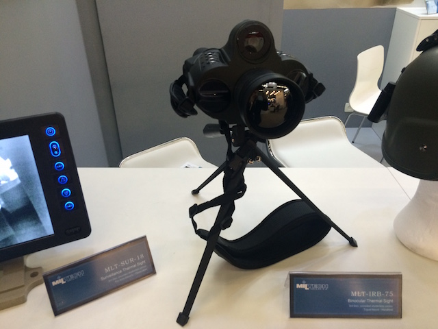 Eurosatory 2016 Miltech showcased a new thermal binocular sight
