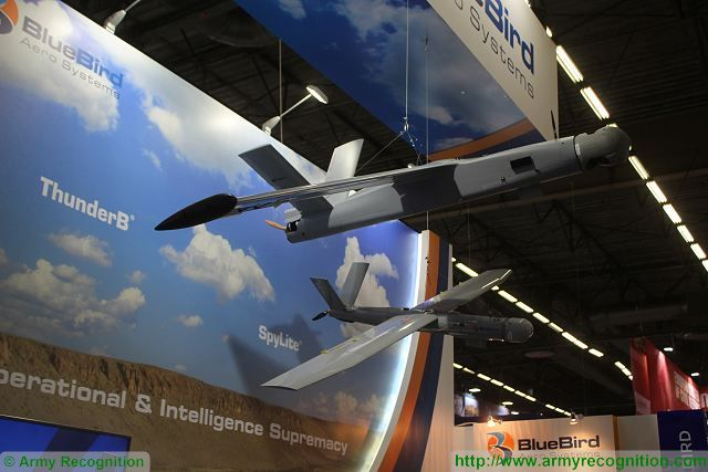 BlueBird from Israel presents small tactical UAS ThunderB with 24 hours endurance at Eurosatory 2016