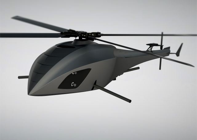 At Eurosatory 2016, the Italian Company Helicampro presents its new HCP-M, an autonomous, internal combustion engine, single-rotor drone. It is an actual miniature helicopter, capable of performing flights entirely controlled by a computer.