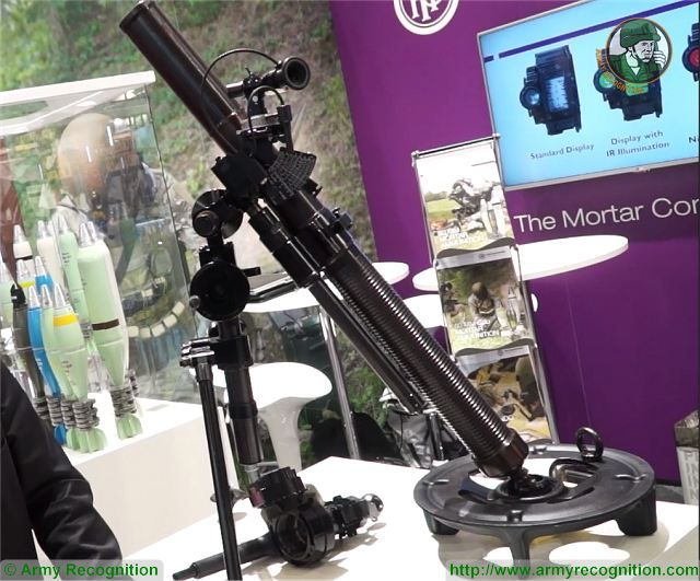 M6 60mm mortar Hirtenberger Austria Austrian Company Eurosatory 2016 defense exhibition Paris France 640 001