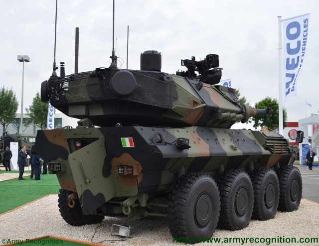Newly developed Centauro II antitank vehicle rises at Eurosatory 2016 640 001