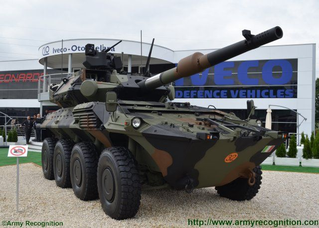 Newly developed Centauro II antitank vehicle rises at Eurosatory 2016 640 003
