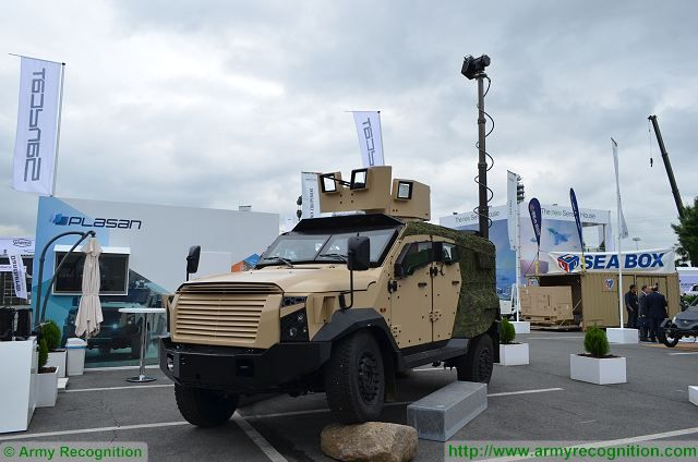 Plasan from Israel showcases combat proven Sandcat 4x4 light protected vehicle at Eurosatory 640 001