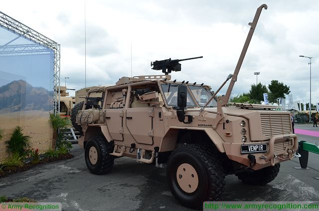French Company Soframe unveils its new special forces vehicle called Venpir at Eurosatory 2016, the international land and airland defence and security exhibition in Paris, France. The Venpir uses a standard military truck chassis, but the vehicle is fully developed and designed by Soframe.