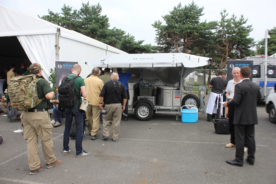 SERT to Serve Ravioles Cooked in its CR 300 Mobile Field Kitchen 2
