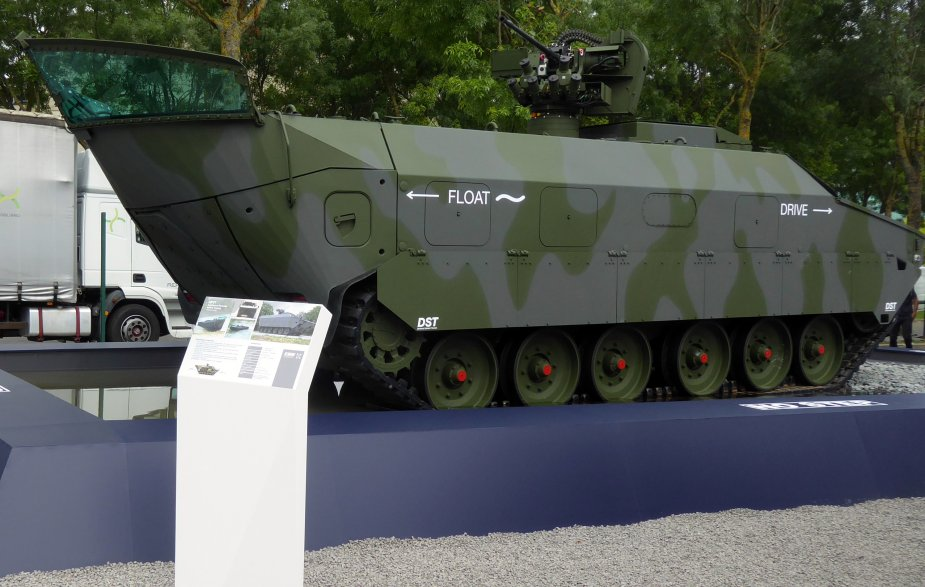 Eurosatory 2018 KMW unveiled Amphibious Protected Vehicle Tracked