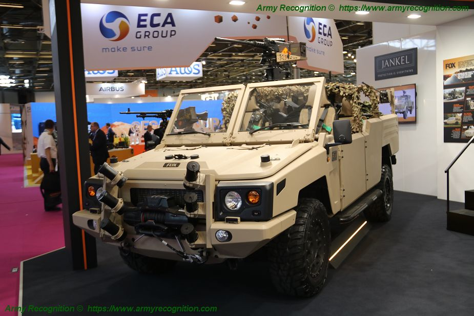 Jankel FOX RRV is displayed at Eurosatory 2018 defense exhibition in Paris France 925 001