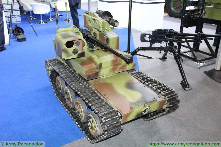 Yugoimport from Serbia presents Little Milosh UGV Eurosatory 2018 925 001