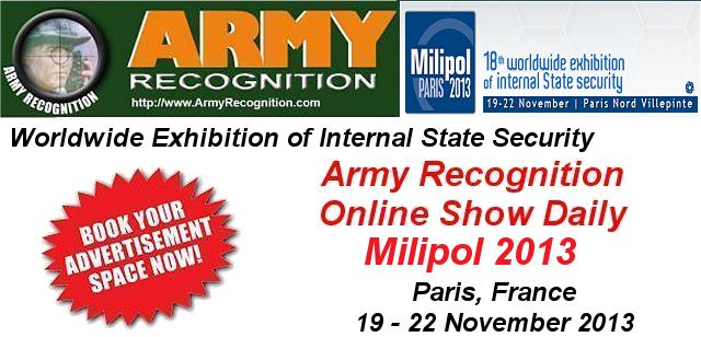 Your advertising in the Online Daily News Milipol 2013 Army Recognition