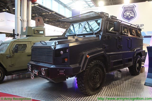 Gladiator Streit Group 4x4 armourred vehicle counter-terrorist SWAT team units Milipol 2015 Security exhibition Paris France 640 001