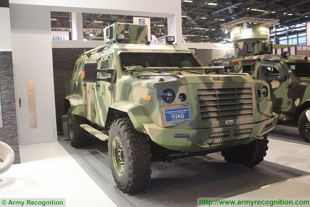 Guardian IAG 4x4 armoured vehicle Milipol 2015 worldwide exhibition of Internal State Security Paris France 640 001