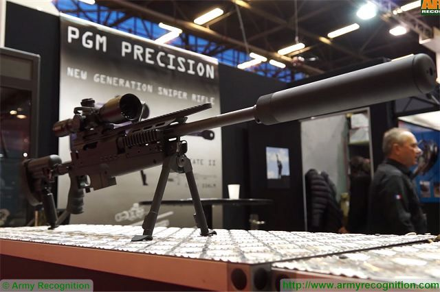 At Milipol 2015, the Worldwide Exhibition of Internal State Security, French Company PGM Précision which design state-of-the-art sniper rifles for military and police units showcases its full range of high-precision rifle including its new Mini-Hecate 2 .338 LM caliber.