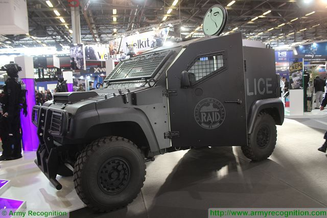 RAID police France PVP armoured Milipol 2015 Security exhibition Paris France 640 001