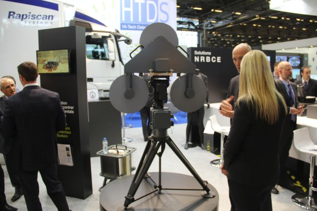 Rapiscan is exhibiting its CounterBomber capable of detecting suicide vests at Milipol 2015 640 001