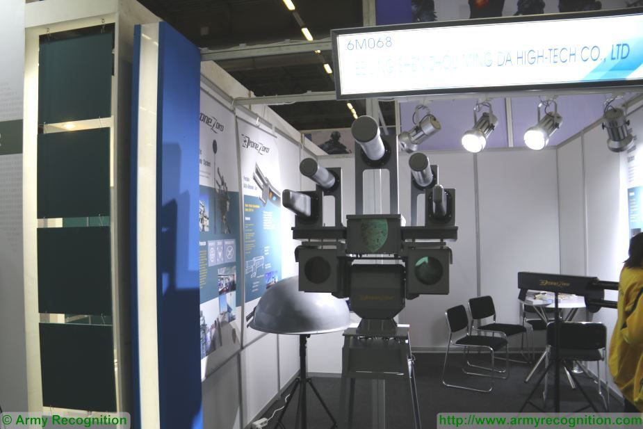 New chinese made SZMID automatic anti UAVs system DZ DG01 Pro at Milipol Paris 2017 France 925 001