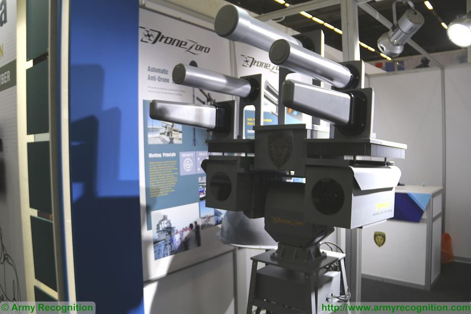 New chinese made SZMID automatic anti UAVs system DZ DG01 Pro at Milipol Paris 2017 France 925 002