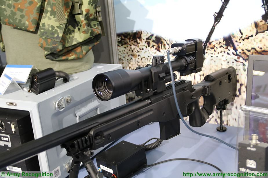 VTQ from Germany presents rifle scope with wireless video transmission at Milipol Paris 2017 France 001