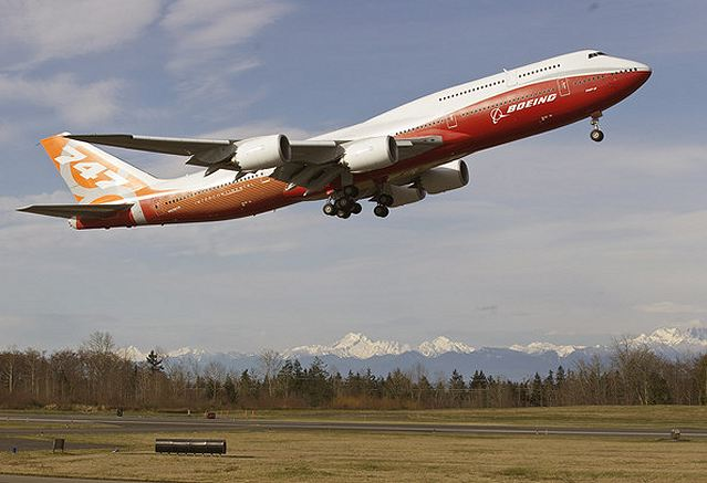 The first 747-8 Intercontinental — the passenger version of Boeing's largest airliner — is scheduled to arrive on June 19 and be on static display until the evening of June 21. The third flight-test 747-8 Freighter, RC522, is set to arrive June 20 and be on display for the following two days.