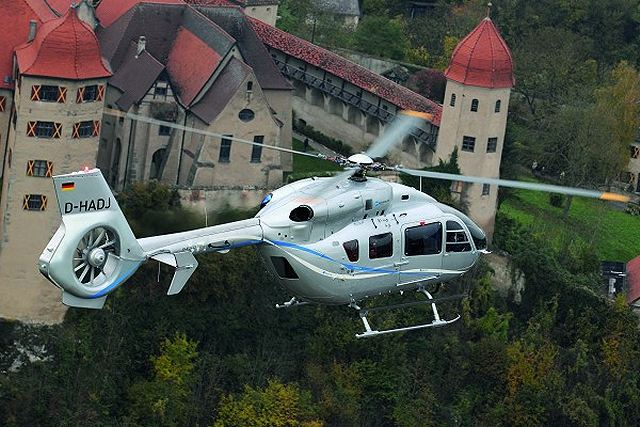The EC145 T2 incorporates new Arriel 2E engines, along with Eurocopter's Fenestron shrouded tail rotor, upgraded main and tail rotor gear boxes, an innovative new digital avionics suite and a 4-axis autopilot.
